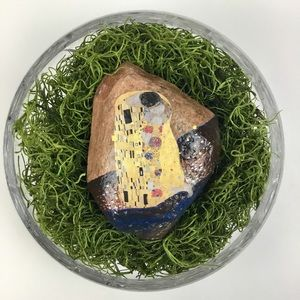 Gustav Klimt Painted Rock 🌺